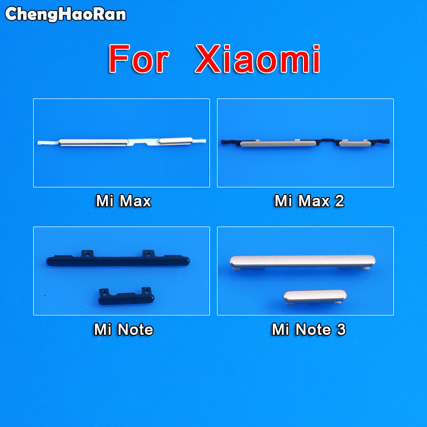ChengHaoRan Side Button For Xiaomi Note 3 Max 2 Volume Button + Power ON / OFF Buttton Key Set Replacement Part