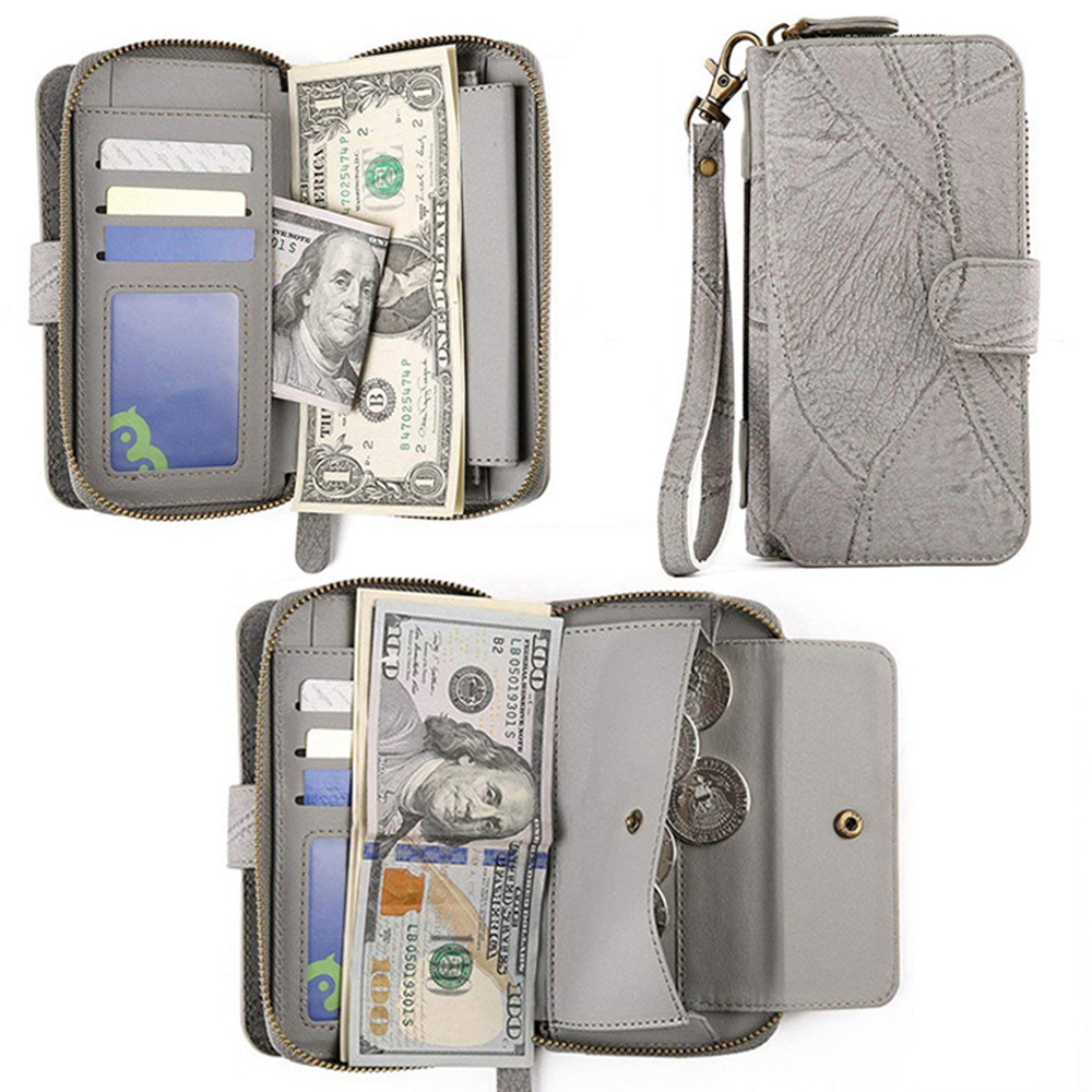 MEGSHI-SanDai Multi function Wallet Phone Case for Samsung Galaxy S9 S10 S20 5G case retro zipper magnetic phone pocket
