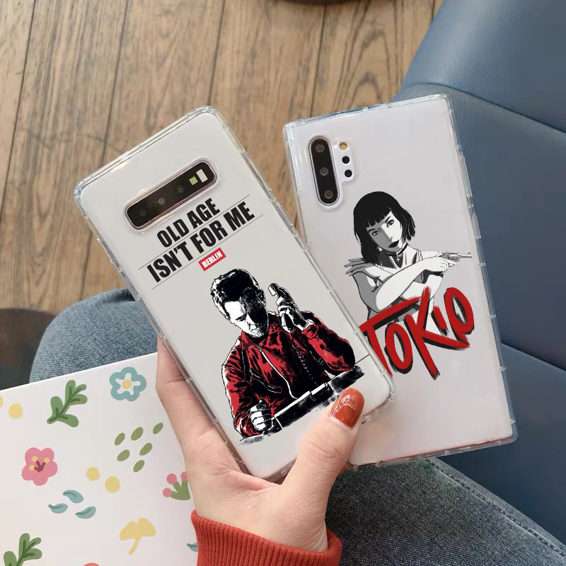 NEW Spain TV Money Heist House Paper TPU soft phone case for Samsung Galaxy A50 A30 A7 A8 Plus A6 A5 J5 J7 A3 cover image