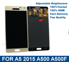 For Samsung Galaxy  A5 2015 A500 A500F A500M Mobile phone LCD Display Touch Screen Digitizer Assembly with Brightness Control все цены