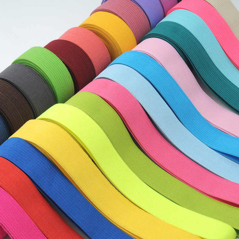 2meters DIY Apparel Sewing Thick Colorfull Elastic Band 2CM Wide Rubber Band Elastic Clothes with Wide Belt Color Elastic Band