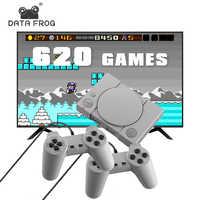 Dati Rana Video Console di Gioco Costruito in 620 Giochi Supporto AV Out 8 Bit Retro Console per Video Dual Gamepad Supporto 2 Lettore di gioco