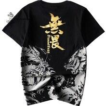 Japanese Kimono Short-Sleeve T-Shirt Clothing Harajuku Street-Style Men's Cotton Print
