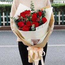 25 pçs rosa rosa vermelho bouquet artificial barato falso flor para a decoração de casamento da família proposta de casamento rosa presente dos namorados