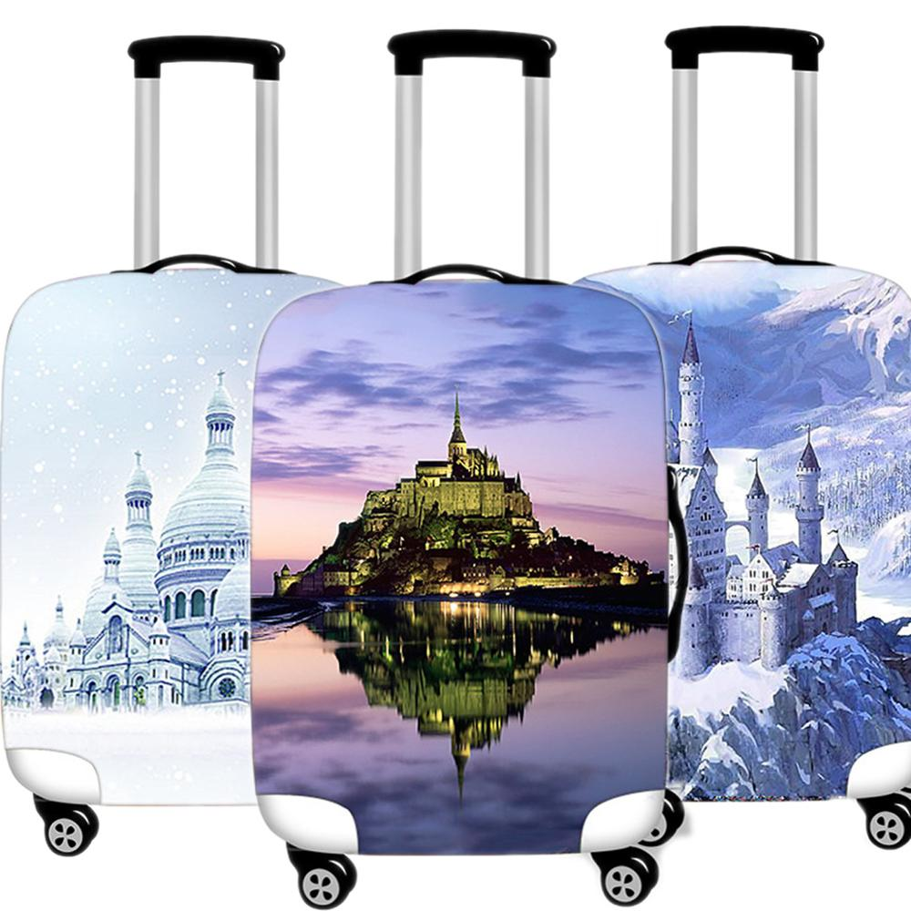 Cartoon Castle Luggage Case Protective Cover Waterproof Thicken Elastic Women Suitcase Case Apply18 - 32 Inche Travel Accessorie
