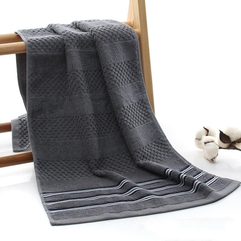 40x90cm Cotton Striped Plaid Jacquard Men Washcloth Bathroom Towel Bathrobe Beach Sun Bath Big Towel Gym Football Gift Towels in Face Towels from Home Garden