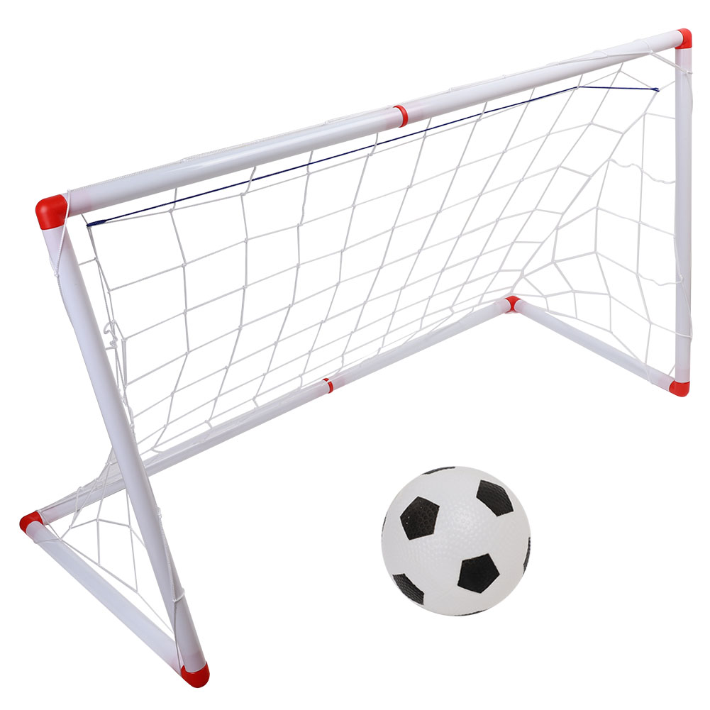 High Quality Indoor Outdoor Mini Children Football Soccer Goal Post Net Set Simulation Football With Pump Kids Balls Sport Toy