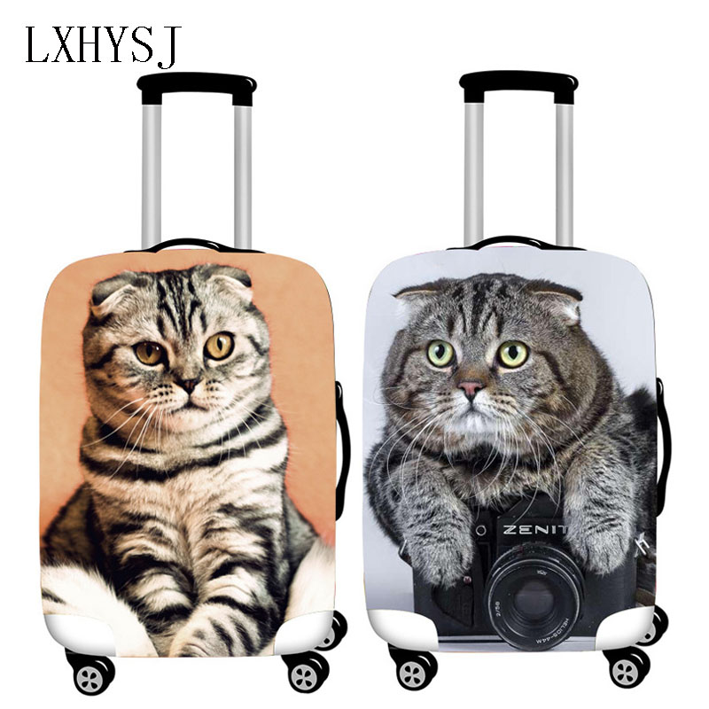 Travel Animal Pattern Luggage Protective Covers Elasticity Trolley Dust Cover For 18-32 Inch Suitcase Case Travel Accessories