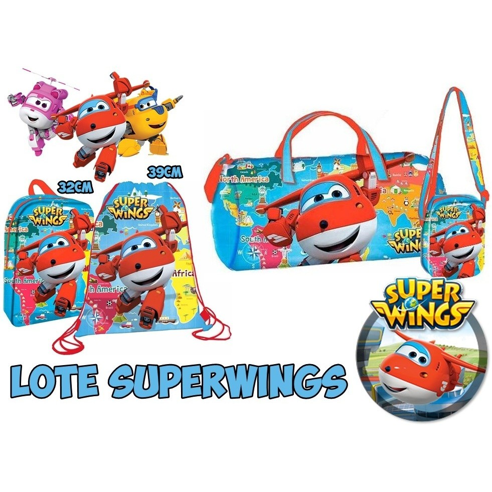 Lot Superwings Backpack, Messenger Bag, Sports And Sack