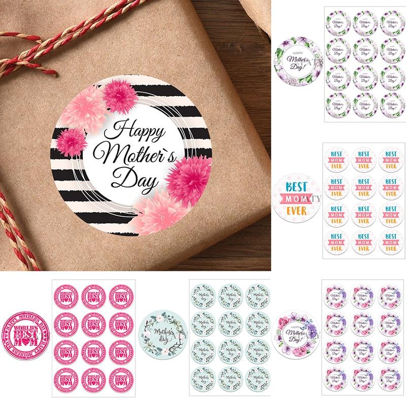 Счастливый День матери Декор наклейки самоклеящиеся наклейки этикетки «сделай сам»; Туфли на день матери; Большие Декор наклейки с цветами