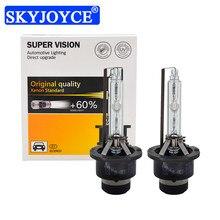 SKYJOYCE 35W HID Bulb D2S D4S Car Headlight Xenon Lamps For E63 E65 E46 E60 E85 E53 Golf 4 IV 12V 5500K Fast Bright Auto Lights