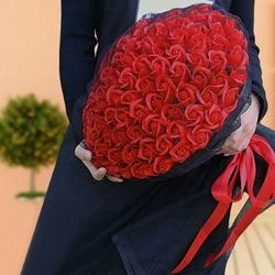 99 pc/boeket Kunstmatige bloem Zeep rose Fake rozen holding bloemen cadeaus Voor Wedding Party thuis Valentijnsdag brige gift