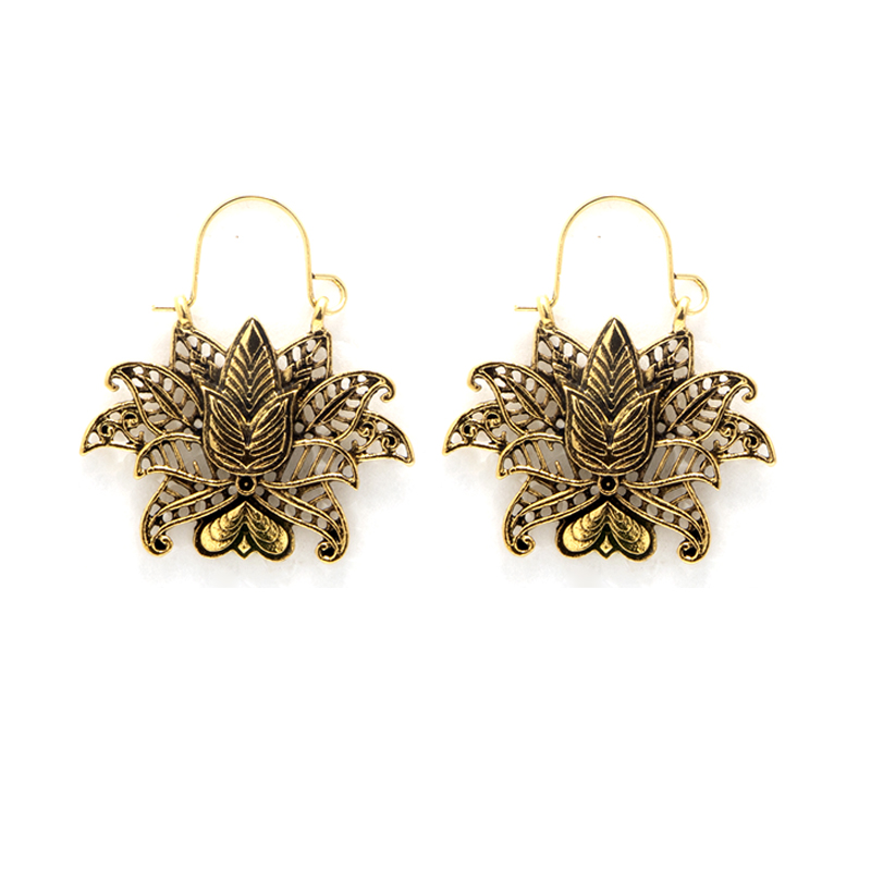 Tocona Vintage Silver Gold Earrings for Women Carving Flowers Heart Geometric Fashion Jewelry Accesorios Mujer 3919 in Drop Earrings from Jewelry Accessories
