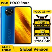 Versão global poco x3 nfc 6gb ram 128gb rom telefone móvel snapdragon 732g núcleo octa 6.67