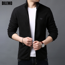New Fashion Wind Breaker Jackets Mens Warm College Style Cardigan High
