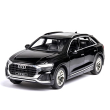 1:24 high simulation Audi Q8 with sound and light pull back alloy toy car model toys for children gifts Cars Metal Model rc car high simulation 1957 chevrolet bel air car model 1 32 alloy pull back retro cars diecast metal toy model free shipping