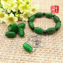 Natural jadeite beads 100% real green jade bracelets for men women jade gift genuine jade beads bangle gemstone bracelet(China)