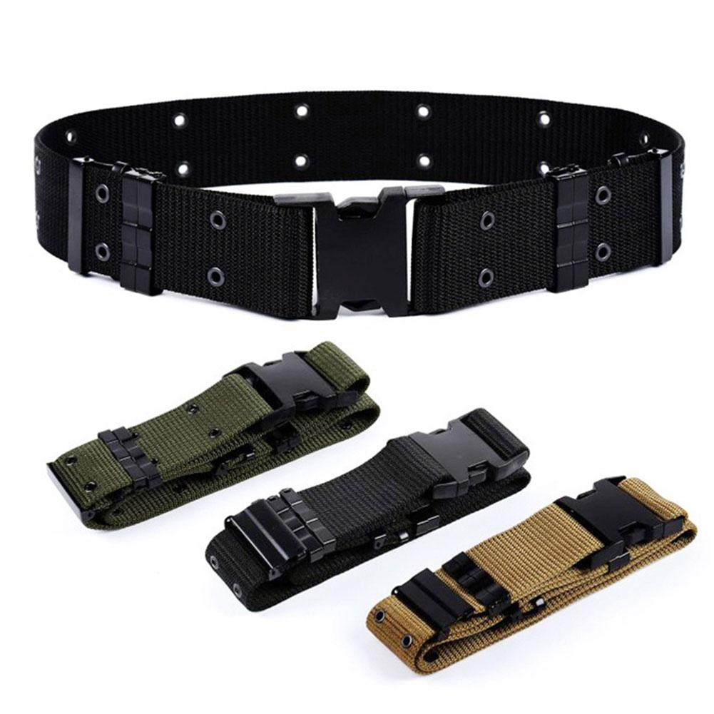 Adjustable Outdoor Survival Tactical Emergency Rescue Canvas Military Waist Belt