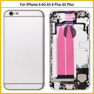 Image 2 - For iPhone 6 Full Housing Case For iPhone 6 6G 6S 6 Plus 6S Plus Battery Back Cover Door Middle Frame Bezel Chassis Flex Cable