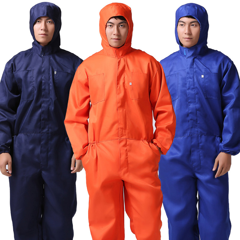 Men Thin Work Overalls Breathable Summer Long Sleeve Coveralls Dust-proof Protective Work clothes WorkerMachine Auto Repair