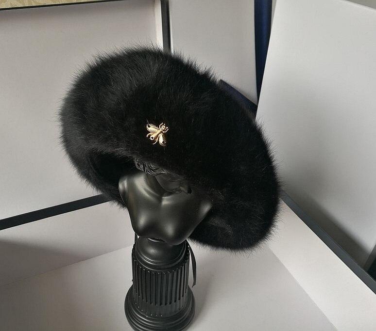 Women Hat Wool Solid Color Beret Caps Female Bonnet Gold Bee Rabbit Fur Caps Lady Painter All Matched Warm Hat Wholesale
