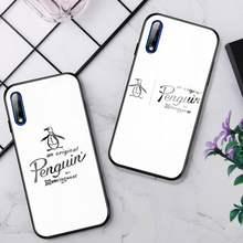 Pinguim original caso de telefone vidro para huawei p30 lite 20 por p9 10 companheiro 10 9 honra 8x9 10 nova 5 capa