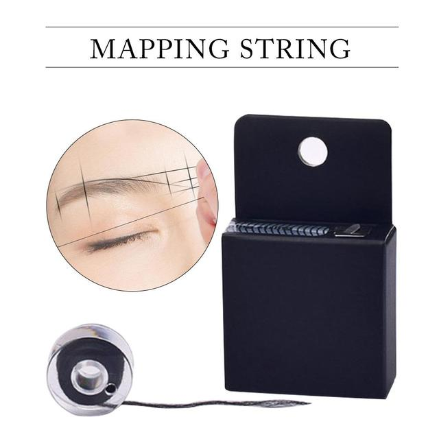 10M Pre-Inked Brow Mapping Strings Pigment String For Microblading Eyebow Mapping Thread For Eyebrow Semi Permanent Makeup Tools