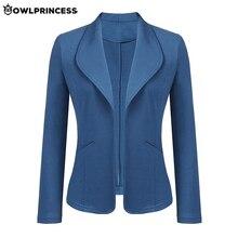madam clothing OWLPRINCESS New Fashion Plus Size Business Blazer Mujer Autumn Of