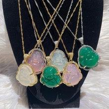 Collier de bouddha pour femmes et hommes, couleur or et argent, pendentifs de Couple, en acier inoxydable, bijoux cadeaux