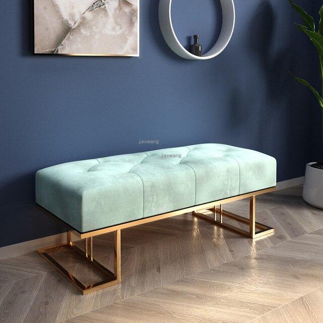 Light Luxury  Sofa Long Bench 1