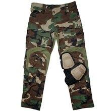 Tmc tactical men g3 militar airsoft combate tático calças de acampamento + joelheiras wl tmc2901