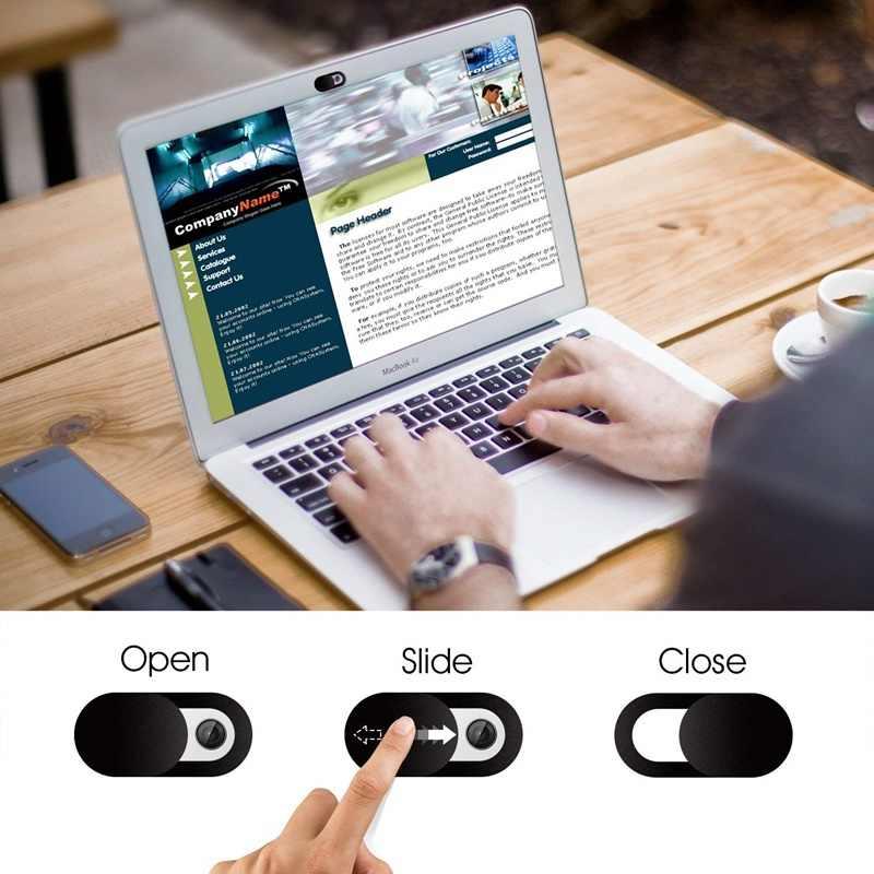 Cubierta de la cámara Web imán de obturador deslizante de plástico Universal cubierta de la cámara para la Web Laptop iPad PC Macbook Tablet Etiqueta de privacidad Antipeep