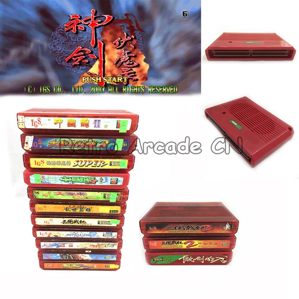 Original SNK MVS NEO géo AES jeu de société PCB catridge Collection Super héros Plus Sangoku Senki 2 Plus: neuf Dragons Secong main