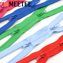 2pcs Meetee 5# Double Opend End Zip Resin Zippers 50-200cm Down Jacket /Overcoat Bags Garments Tent Craft Sewing Accessories