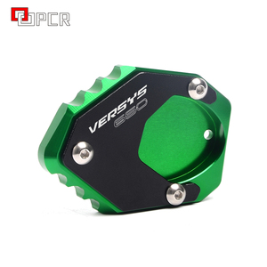 Image 2 - With LOGO Versys 650 Motorcycle Green&Black Bike Side Stand Extension Enlarger Plate For KAWASAKI VERSYS 650 2015 2018 2019