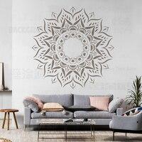 120 160cm estênceis para paredes grande modelo de móveis pintar mandala grande pintura reutilizável azulejos padrões étnicos s017