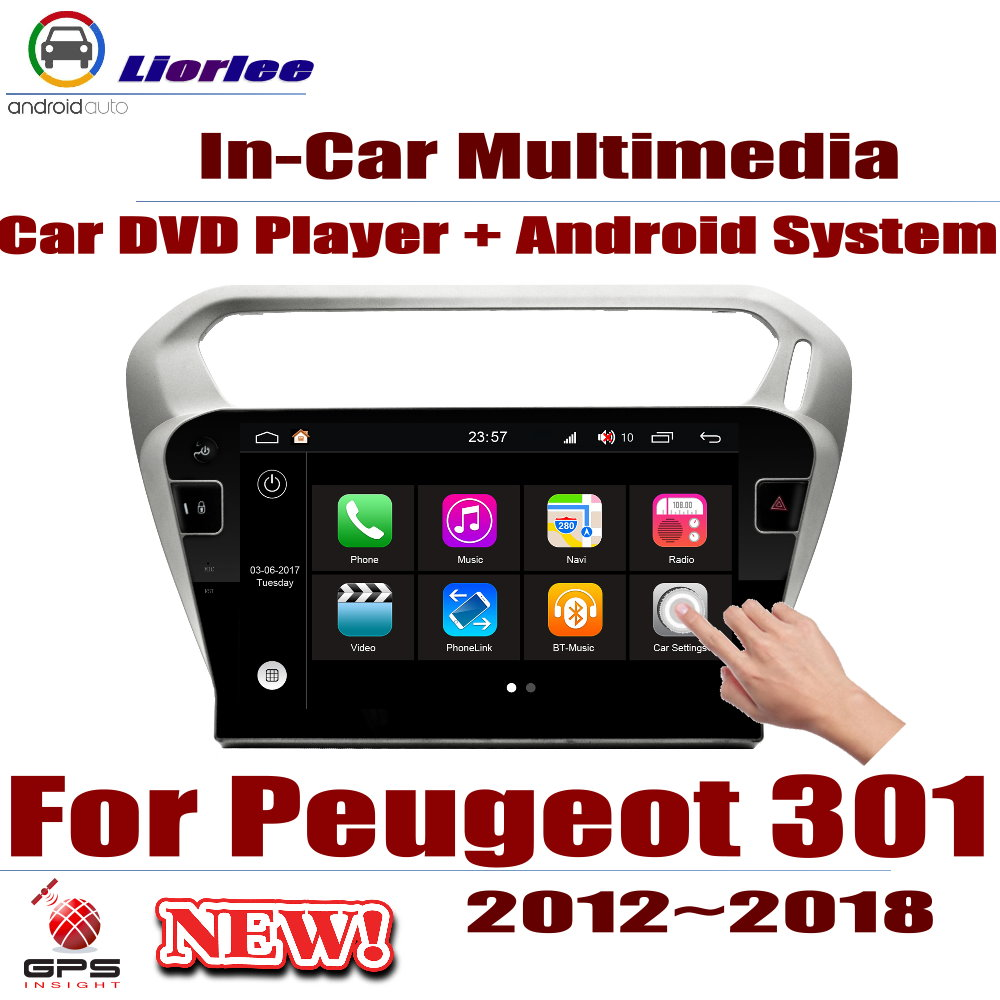 Car Radio DVD Player <font><b>GPS</b></font> Navigation <font><b>For</b></font> <font><b>Peugeot</b></font> <font><b>301</b></font> 2012~2018 Android HD Displayer System Audio Video Stereo In Dash Head Unit image