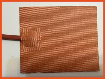 Silikon heater pad riscaldatore 12 v 200 w 200*200mm başına stampante 3d letto calore için kullanılan Ayak kaynak ön ısıt фото