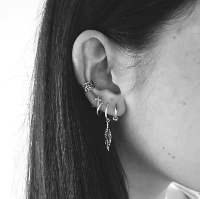 Women Girls Earrings Set Beach Retro Earrings Heart Sexy Jewelry Summer Golden Silver Gift Bohemia Nation