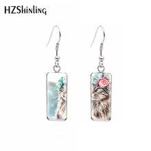 Jewelry Pendants Ear-Earrings Flower Rectangles Animal French Wreath Glass Hook Dogs