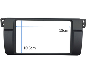 Image 3 - 180*105mm Opening for BMW 3 Series E46 Double Din Fascia Radio DVD Stereo Panel Trim Kit Refitting Installation Frame