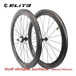 Image 3 - Elite 700c karbon yol tekerlekleri gamze V fren tekerlek yüksek TG Golf gamze yüzey 58*25mm jantlar kattığı boru tipi bisiklet tekerleği