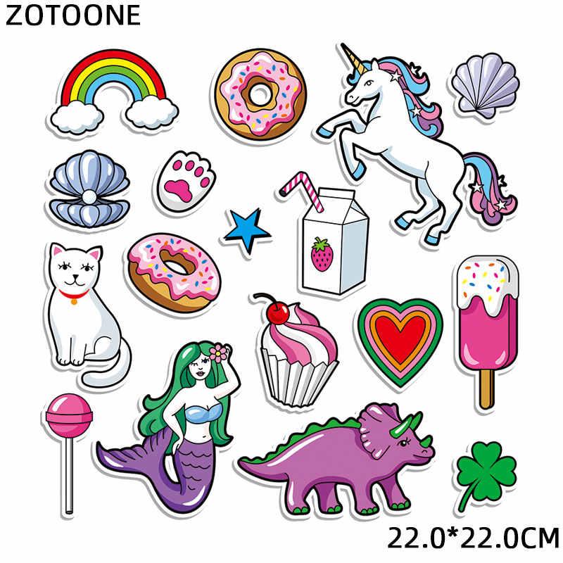 ZOTOONE Eisen auf Patch Wärme Transfers für Kleidung Tasche Tier Set Patches Cute Unicorn Aufkleber für Kinder Anwendungen DIY Appliques