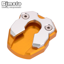N MAX 155 CNC Aluminum Side Stand Pad Enlargement Plate Kickstand Extension For YAMAHA N-MAX NMAX155 2015-2018