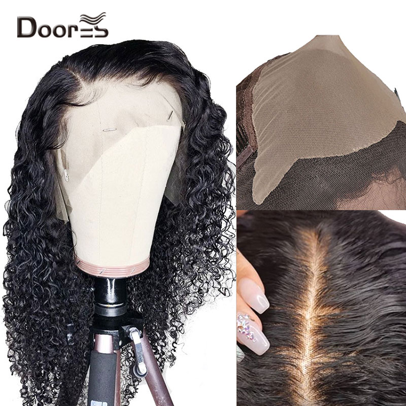 13x6 Fake Scalp <font><b>Wigs</b></font> Deep Parting <font><b>Lace</b></font> <font><b>Front</b></font> <font><b>Wig</b></font> Peruvian Remy Curly <font><b>Human</b></font> <font><b>Hair</b></font> <font><b>Wig</b></font> Preplucked With Baby <font><b>Hair</b></font> 150% <font><b>180</b></font>% <font><b>Density</b></font> image