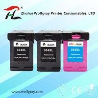 Cartucho de tinta 304xl  nova versão para hp 304 para hp 304 xl deskjet envy 2620 2630 2632 5030 5020 5032 impressora 3720 3730 5010