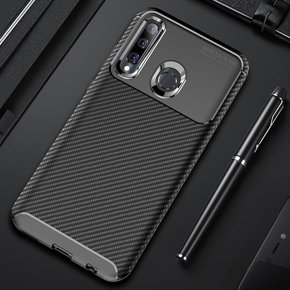 For <font><b>Honor</b></font> <font><b>10i</b></font> <font><b>Case</b></font> Luxury Carbon Fiber Cover Full Protection Phone <font><b>Case</b></font> For Huawei <font><b>Honor</b></font> 10 i 20i 20lite Cover Classic Bumper image