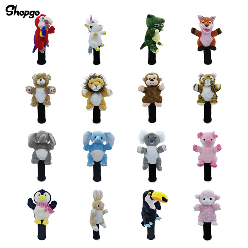 All Kinds Of Animals Golf Fairway Woods Head Covers Unisex Golf Club Cover Mascot Novelty Cute Gift