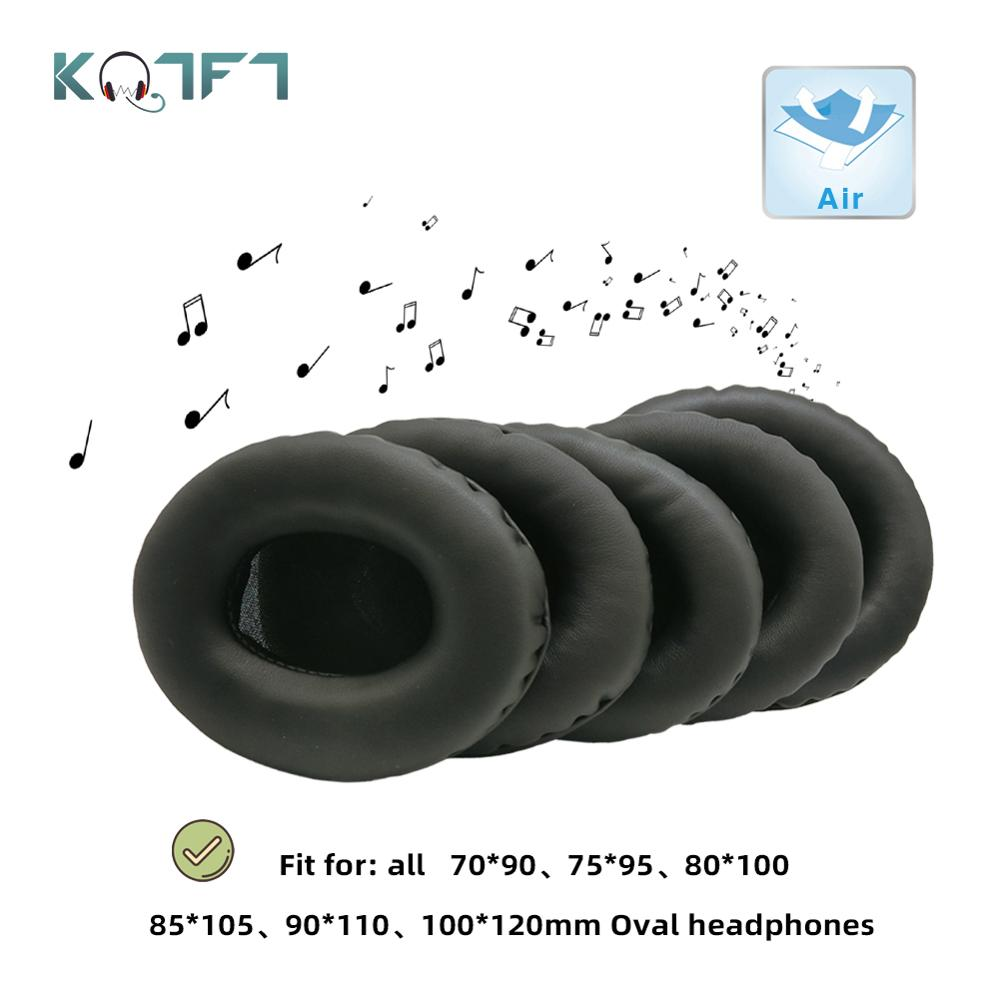 KQTFT All size Black Universal Replacement Ear Pads for 90*70 95*75 100*80 105*85 110*90 <font><b>120*100</b></font> mm Oval Headphones Parts image