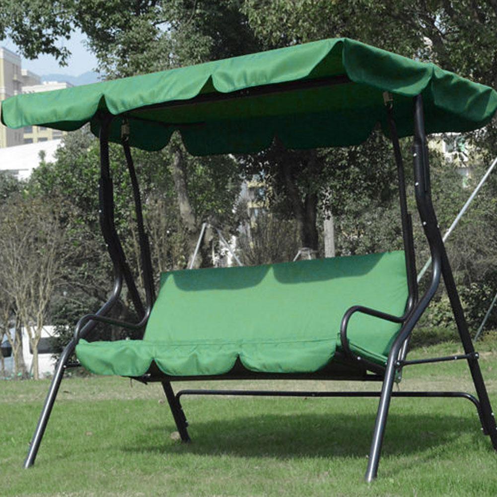 Courtyard Garden Swing Hammock 3-Seat Cover Waterproof Protection Cover Garden Patio Outdoor Swing Chair Hammock Seat Cover(China)